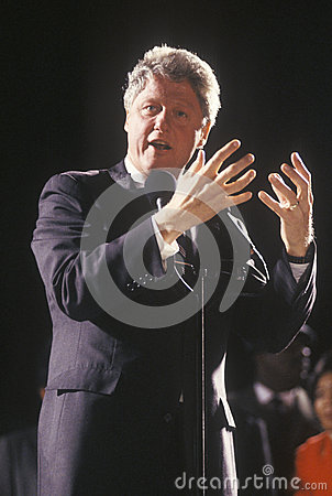 Governor Bill Clinton Editorial Stock Photo