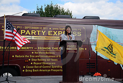 Governor Haley at Tea Party Express Rally Editorial Photo