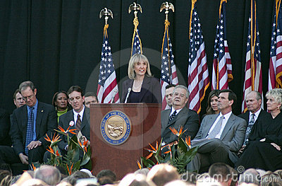 Governor Jan Brewer of Arizona Editorial Stock Photo
