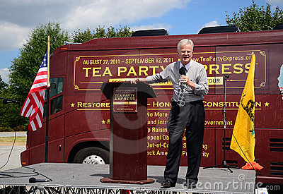 Governor Roemer at the Tea Party Express Rally Editorial Photography