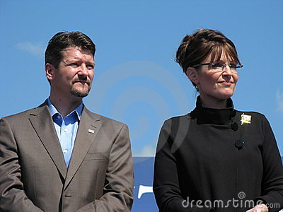Governor Sarah Palin and Todd Palin Editorial Stock Photo