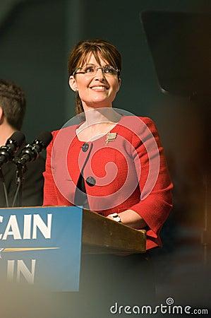 Governor Sarah Palin Vertical 1 Editorial Image