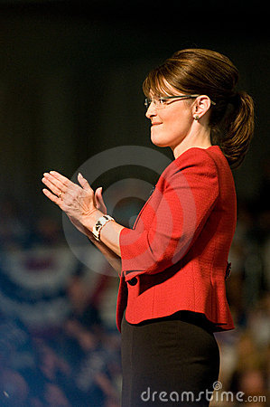 Governor Sarah Palin Vertical Clapping Editorial Stock Photo