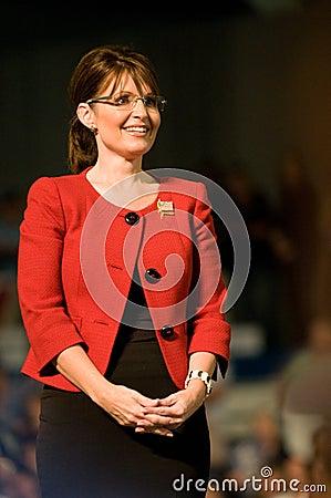 Governor Sarah Palin Vertical Smiling Editorial Stock Image