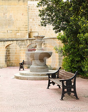 Free Gozo, Malta. Fountain Stock Image - 34482731