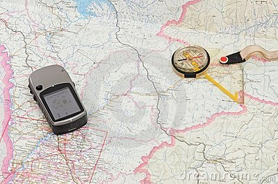 GPS and Compass on Map