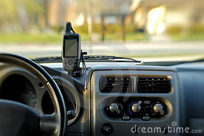 GPS on dashboard