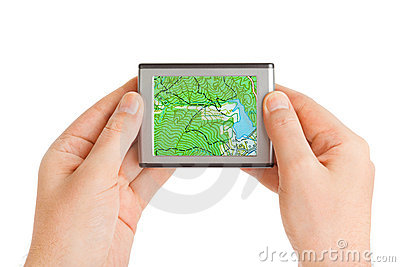GPS in hands