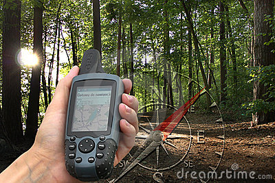 GPS with map