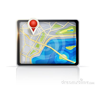 Free GPS Map Royalty Free Stock Image - 24494646