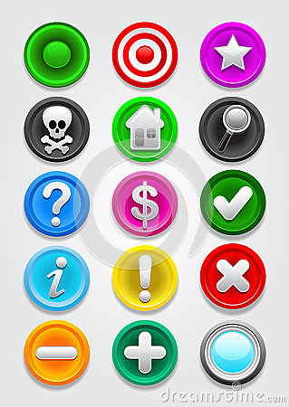 Gps map vector Icons / Buttons Collection