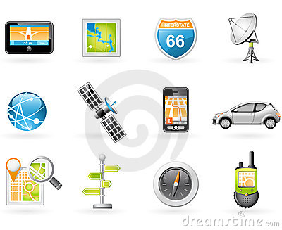 GPS and Navigation Icon Set