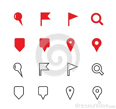 GPS and Navigation icons on white background.