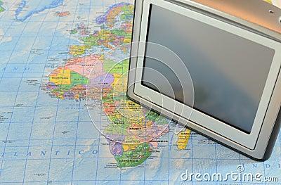 Gps navigation on map