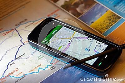 Gps navigation mobile phone