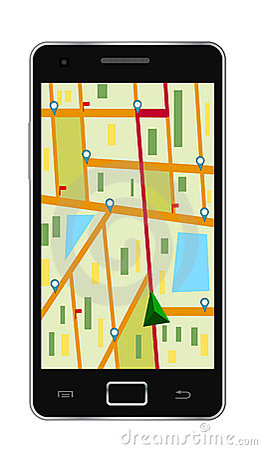 Gps navigation phone