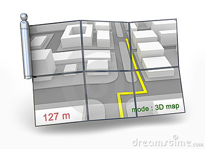 GPS navigator and 3D map