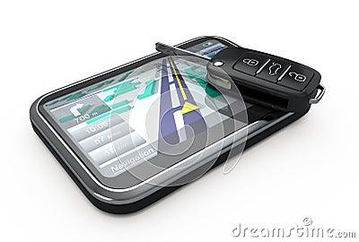 GPS Navigator and remote key