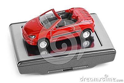 GPS navigator and toy car