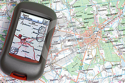 GPS and paper map