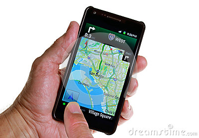 GPS Road Navigation by Smartphone