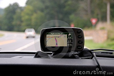 GPS on vehicle dashboard