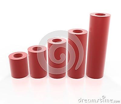 Gráfico vermelho do tubo