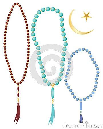 Grânulos de oração islâmicos
