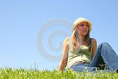 Gräskvinna