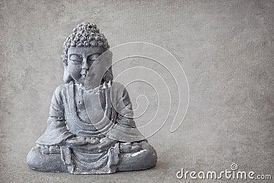 Grå sten buddha
