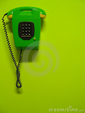 Grön telefon