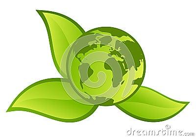 Grönt planettecken för knapp