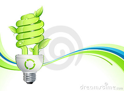 Grüne Glühlampe