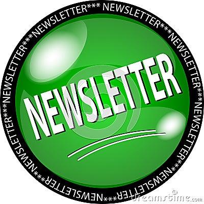 Grüne Newslettertaste
