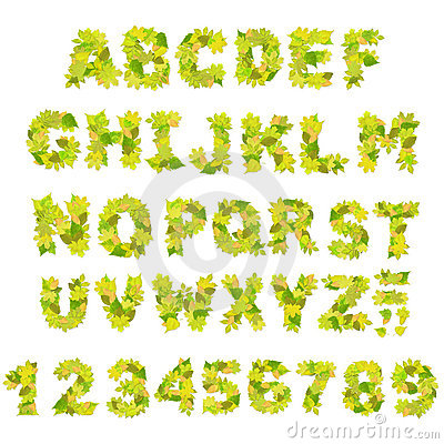 Grünes Alphabet