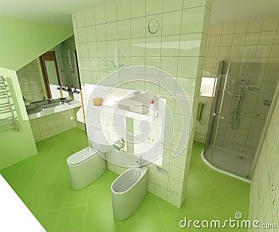gr nes badezimmer stockfotografie bild 2395252. Black Bedroom Furniture Sets. Home Design Ideas