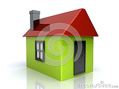 gr nes einfaches haus stockbilder bild 12476224. Black Bedroom Furniture Sets. Home Design Ideas