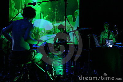 Grünes Konzert Redaktionelles Foto