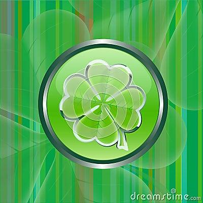 Grünes Shamrockblattzeichen