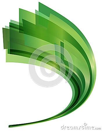 Grünes Swoosh