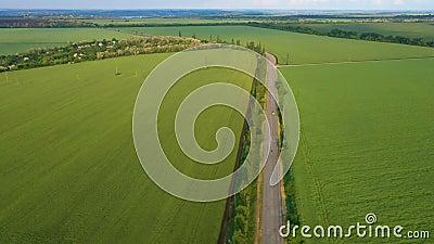 Grünflächen und Straßen im Frühsommer stock footage
