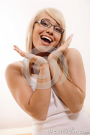 Göra en gest för kvinna