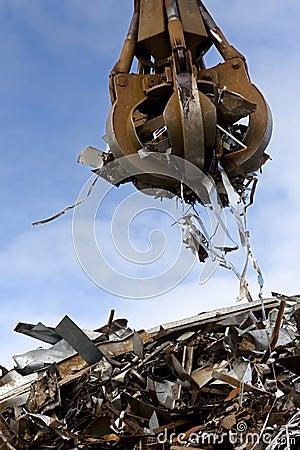 Free Grabber Loading A Metal Garbage Stock Images - 10226574