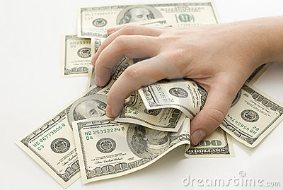 Grabbing Money Stock Photos Image 16756193