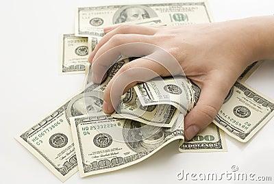 Grabbing Money Stock Photos Image 16756193