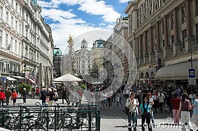 Graben Street, Vienna Editorial Image