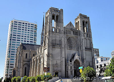 Grace Cathedral San Francisco Editorial Photo