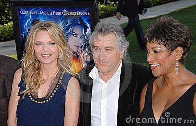 Grace Hightower, Michelle Pfeiffer, Robert De Niro Editorial Stock Image