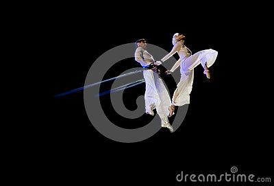 Graceful aerial trick Editorial Image