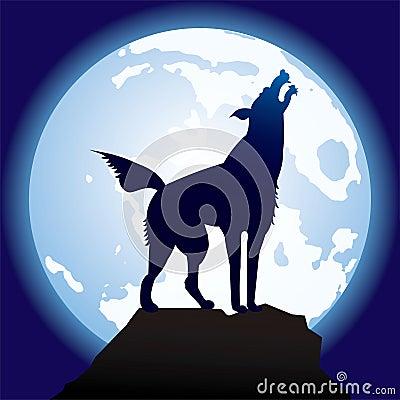 Graceful-black-wolf